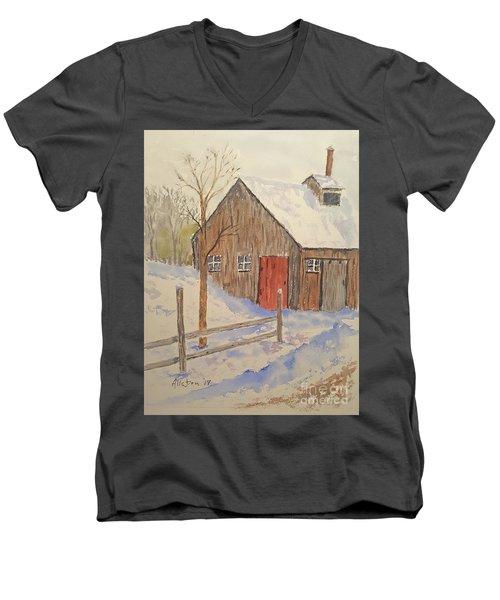Winter Sugar House Men's V-Neck T-Shirt