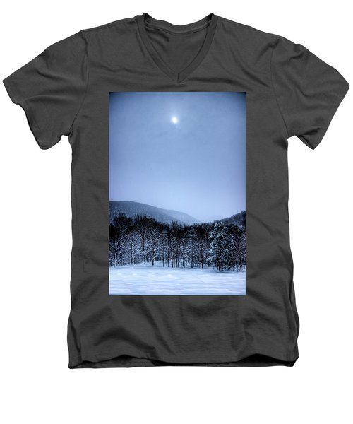 Winter Sun Men's V-Neck T-Shirt by Jonny D