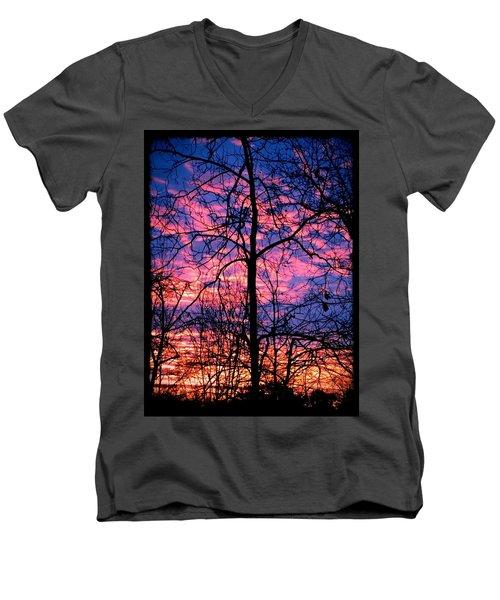 Winter Sunrise Men's V-Neck T-Shirt by Betty Buller Whitehead