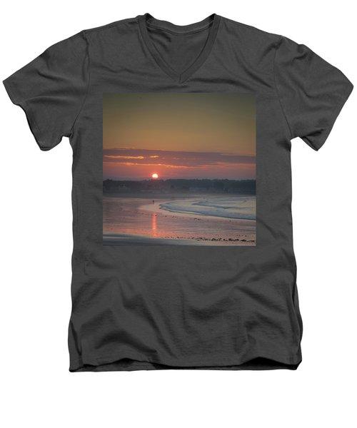 Winter Sunrise - Kennebunk Men's V-Neck T-Shirt