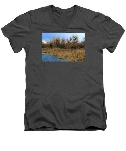 Winter Trees Along The Snake Men's V-Neck T-Shirt
