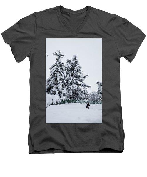 Winter Trekking-2 Men's V-Neck T-Shirt