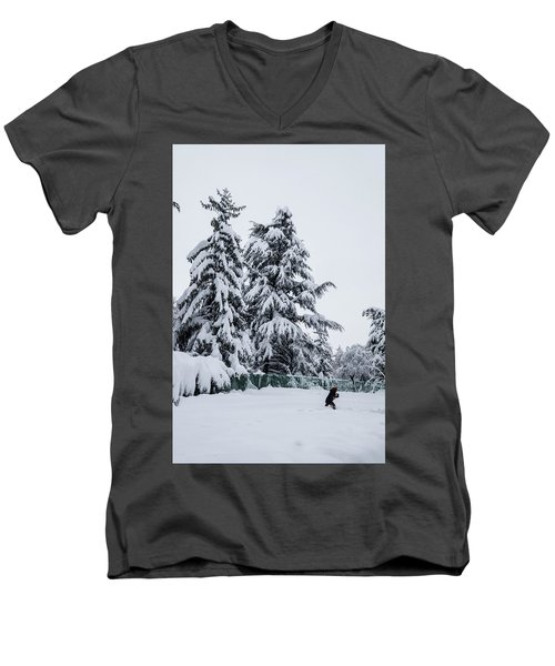 Winter Trekking-2 Men's V-Neck T-Shirt