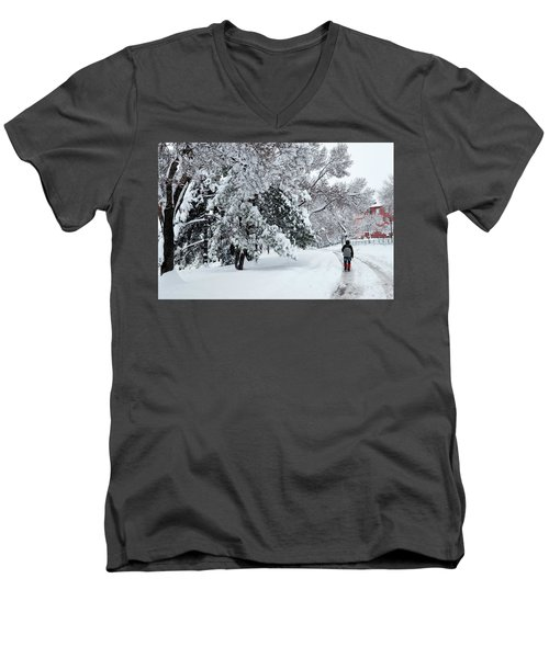 Winter Trekking-3 Men's V-Neck T-Shirt