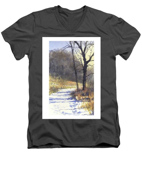 Winter Walk Men's V-Neck T-Shirt