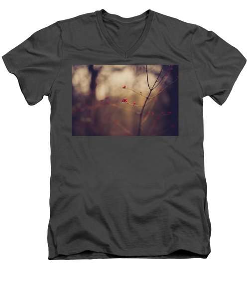 Men's V-Neck T-Shirt featuring the photograph Winter Whispers by Shane Holsclaw