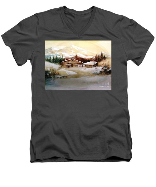 Winter Wonderland  Men's V-Neck T-Shirt by Hazel Holland