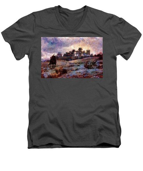 Winterfell Men's V-Neck T-Shirt by Lilia D