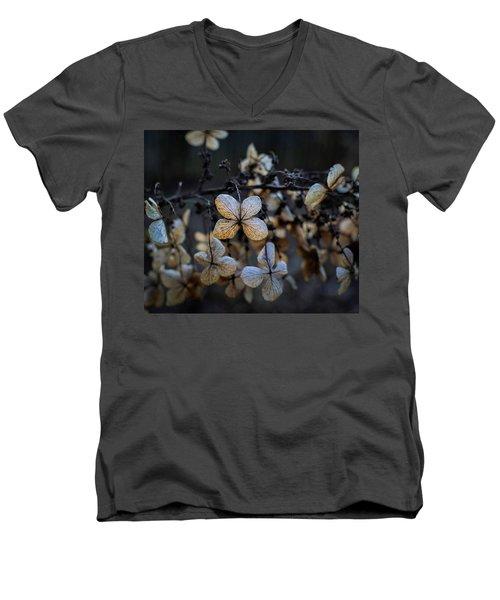 Winterized Hydrangea Men's V-Neck T-Shirt