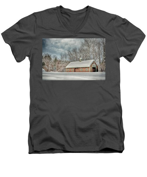 Winters Coming Men's V-Neck T-Shirt by Tricia Marchlik