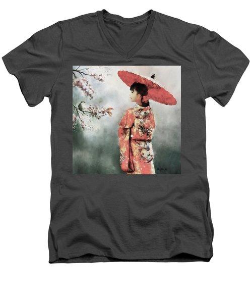Winter's End Men's V-Neck T-Shirt