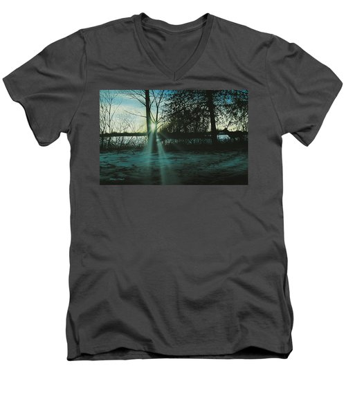 Winter's Evening Scout Men's V-Neck T-Shirt