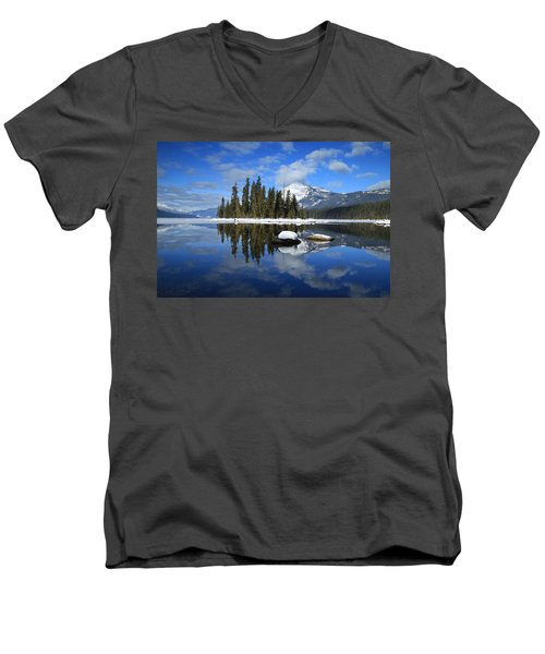 Winters Mirror Men's V-Neck T-Shirt