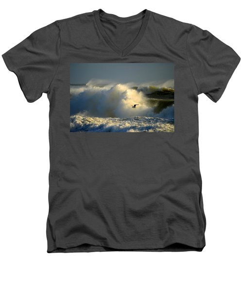 Winter's Passing Men's V-Neck T-Shirt