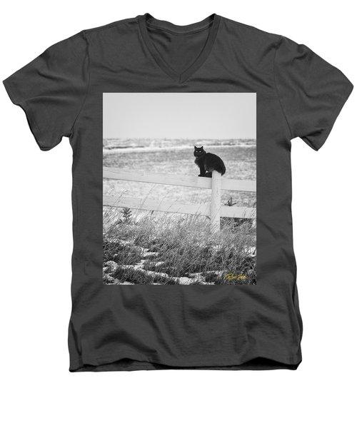 Winter's Stalker Men's V-Neck T-Shirt
