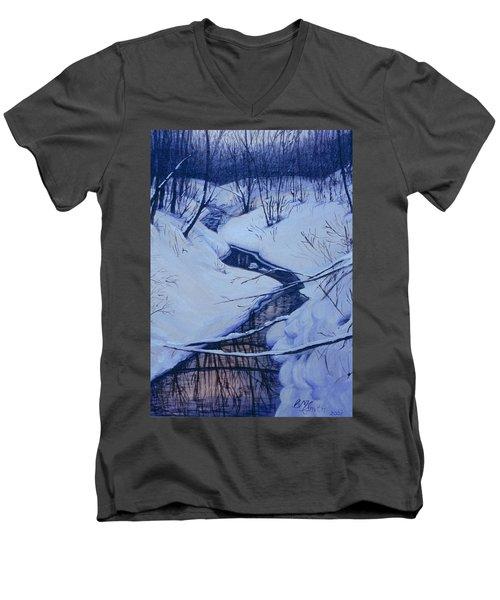 Winter's Stream Men's V-Neck T-Shirt
