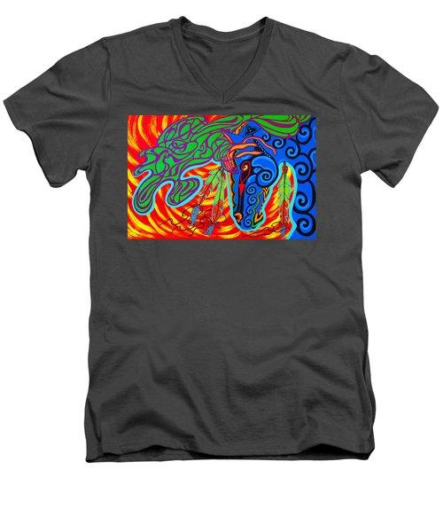 Winter Spirit Men's V-Neck T-Shirt