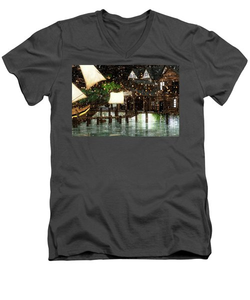 Wintery Inn Men's V-Neck T-Shirt