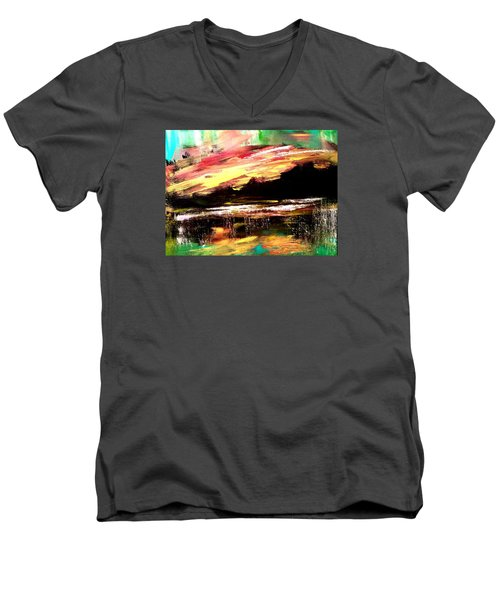 Wintry Morning Men's V-Neck T-Shirt