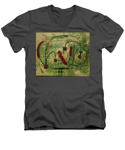 Wired Composition Enigma Men's V-Neck T-Shirt