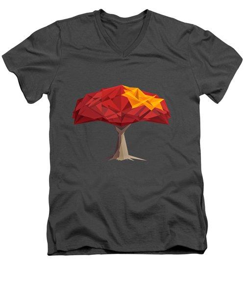 Wired Tree  Men's V-Neck T-Shirt