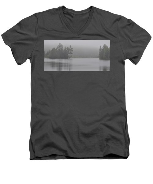 Wisconsin In Grey And Green Men's V-Neck T-Shirt