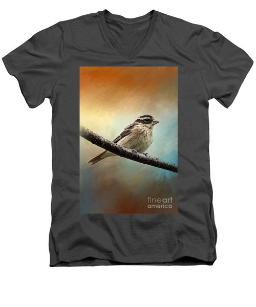 Wisconsin Songbird Men's V-Neck T-Shirt