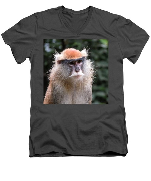Wise Eyes Men's V-Neck T-Shirt by Keith Stokes