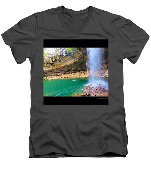 Wishing You A #beautiful #zen Like Day! Men's V-Neck T-Shirt by Austin Tuxedo Cat