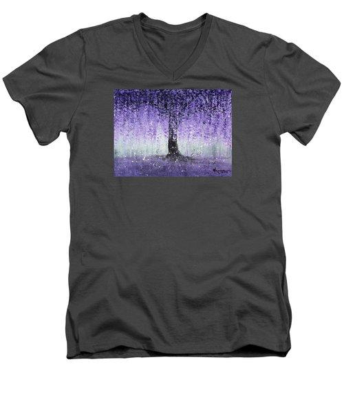 Wisteria Dream Men's V-Neck T-Shirt by Kume Bryant