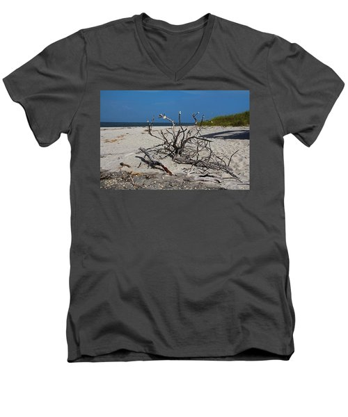 Men's V-Neck T-Shirt featuring the photograph Wistful But Unwavering by Michiale Schneider