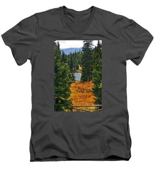 With A View Men's V-Neck T-Shirt