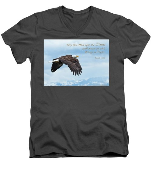 With Wings As Eagles Men's V-Neck T-Shirt