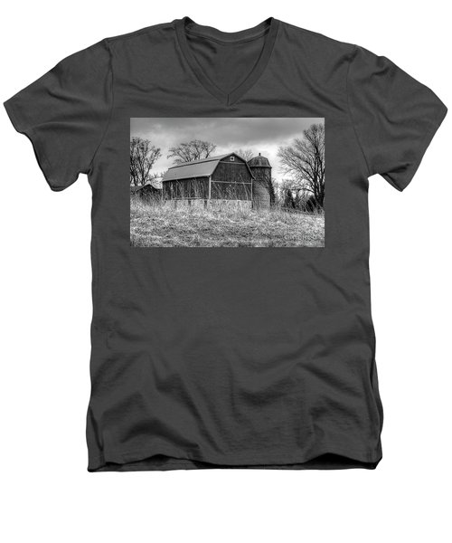 Withered Old Barn Men's V-Neck T-Shirt by Deborah Klubertanz