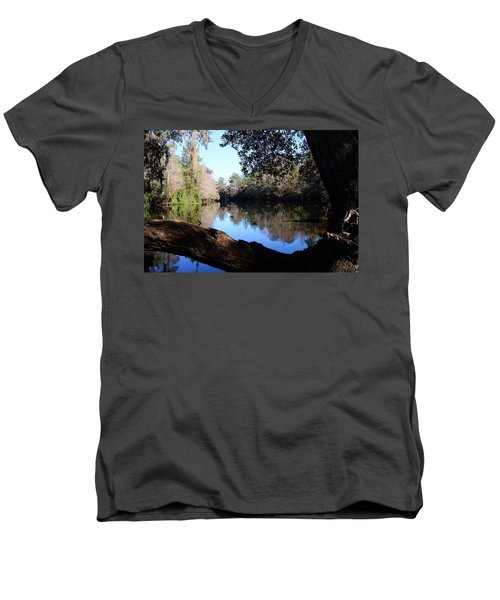 Withlacoochee Overlook Men's V-Neck T-Shirt