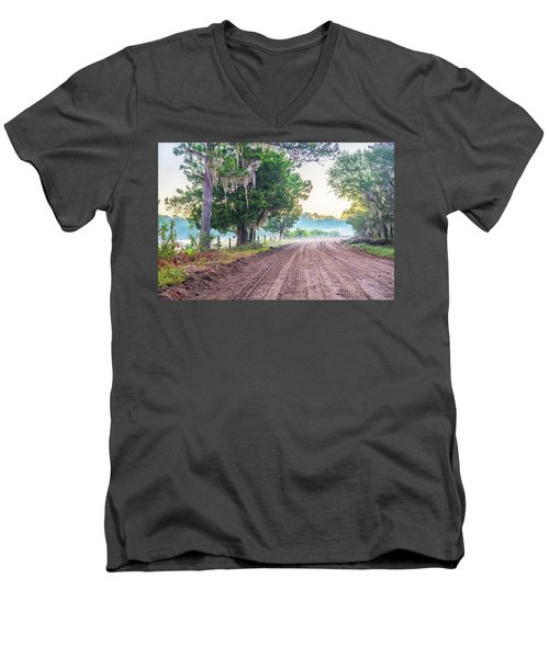 Witsell Rd - Church Field Fog Men's V-Neck T-Shirt