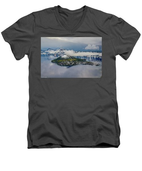 Wizard Island Men's V-Neck T-Shirt