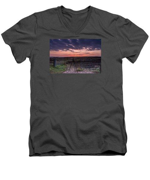 Wolds Sunset 2 Men's V-Neck T-Shirt