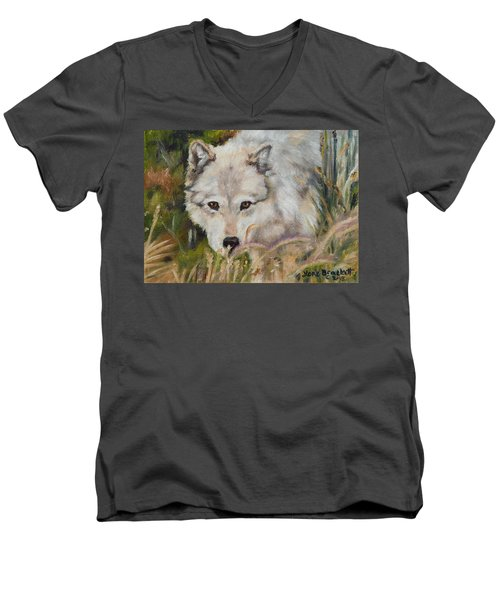 Wolf Among Foxtails Men's V-Neck T-Shirt