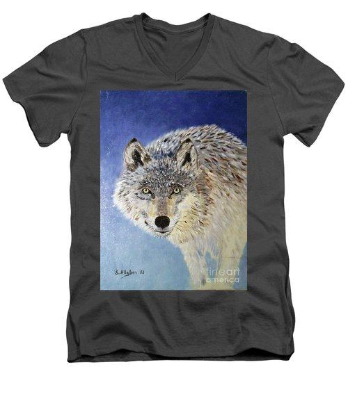Wolf Study Men's V-Neck T-Shirt