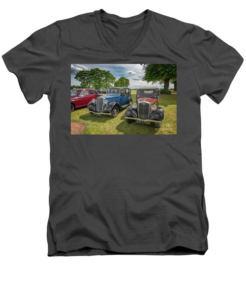 Men's V-Neck T-Shirt featuring the photograph Wolseley Motors by Adrian Evans