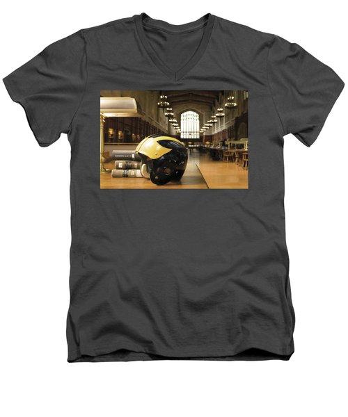 Wolverine Helmet In Law Library Men's V-Neck T-Shirt