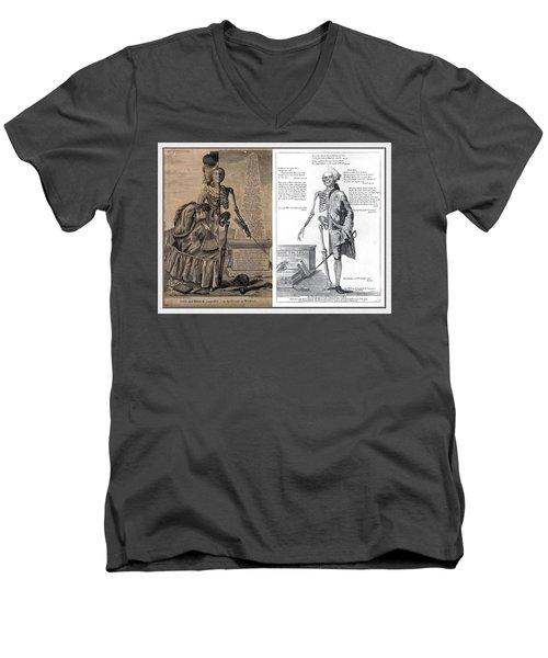 Woman And A Man Men's V-Neck T-Shirt by Maciek Froncisz