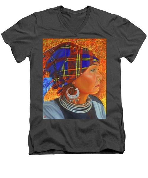 Woman In The Shadow Men's V-Neck T-Shirt
