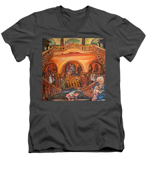 Woman's Place In Society Men's V-Neck T-Shirt