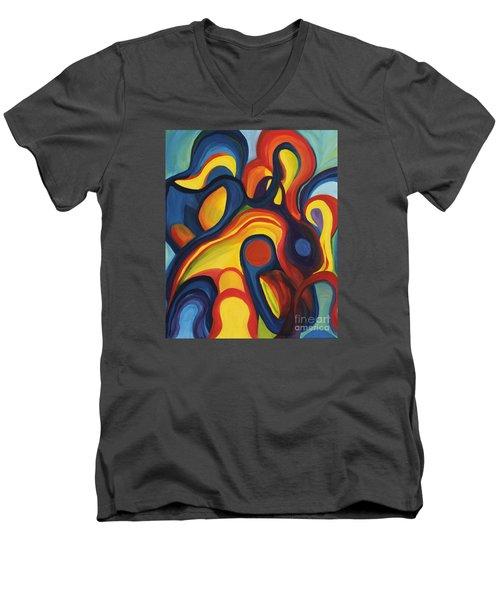 Women As Caregivers Men's V-Neck T-Shirt