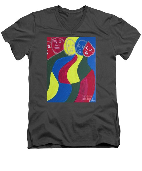Women - Who Are All Sisters Men's V-Neck T-Shirt by Mudiama Kammoh