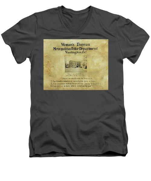 Women's Bureau House Of Detention Poster 1921 Men's V-Neck T-Shirt