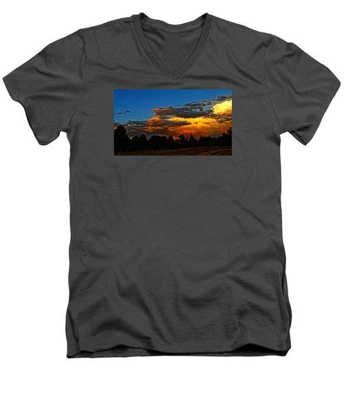 Men's V-Neck T-Shirt featuring the photograph Wonder Walk by Eric Dee