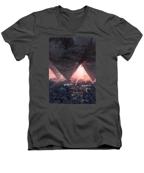wonders great pyrimaid of Giza Men's V-Neck T-Shirt